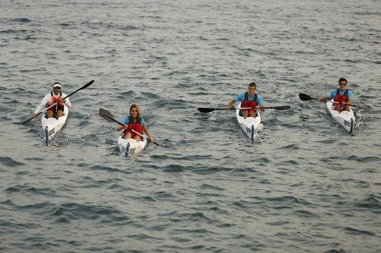 Kayaks en Las Canteras